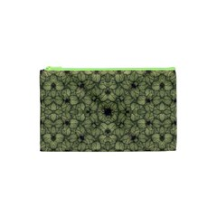 Stylized Modern Floral Design Cosmetic Bag (xs)