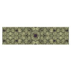 Stylized Modern Floral Design Satin Scarf (oblong)
