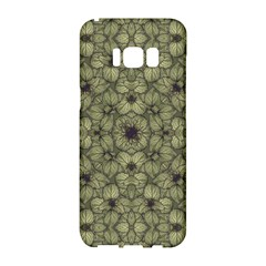Stylized Modern Floral Design Samsung Galaxy S8 Hardshell Case