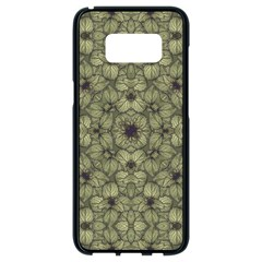 Stylized Modern Floral Design Samsung Galaxy S8 Black Seamless Case
