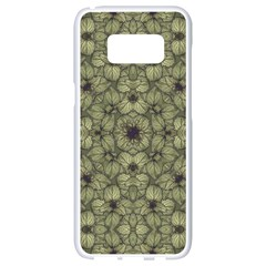 Stylized Modern Floral Design Samsung Galaxy S8 White Seamless Case