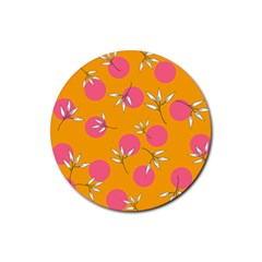 Playful Mood Ii Basics Rubber Round Coaster (4 Pack)