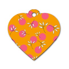 Playful Mood Ii Dog Tag Heart (two Sides)