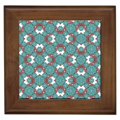 Colorful Geometric Graphic Floral Pattern Framed Tiles