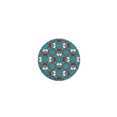 Colorful Geometric Graphic Floral Pattern 1  Mini Magnets