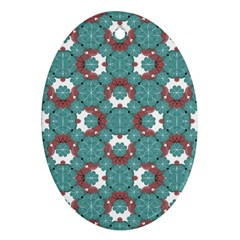 Colorful Geometric Graphic Floral Pattern Ornament (oval)