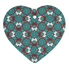 Colorful Geometric Graphic Floral Pattern Ornament (heart)