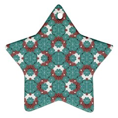 Colorful Geometric Graphic Floral Pattern Ornament (star)
