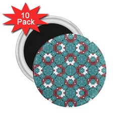 Colorful Geometric Graphic Floral Pattern 2 25  Magnets (10 Pack)
