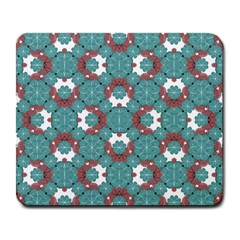Colorful Geometric Graphic Floral Pattern Large Mousepads