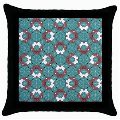 Colorful Geometric Graphic Floral Pattern Throw Pillow Case (black)
