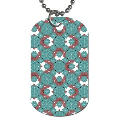 Colorful Geometric Graphic Floral Pattern Dog Tag (one Side)