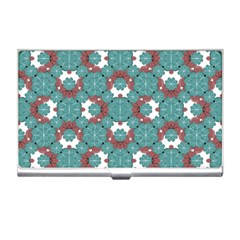 Colorful Geometric Graphic Floral Pattern Business Card Holders