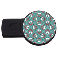 Colorful Geometric Graphic Floral Pattern Usb Flash Drive Round (2 Gb)
