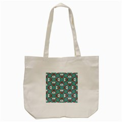 Colorful Geometric Graphic Floral Pattern Tote Bag (cream)