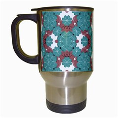Colorful Geometric Graphic Floral Pattern Travel Mugs (white)