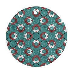 Colorful Geometric Graphic Floral Pattern Round Ornament (two Sides)