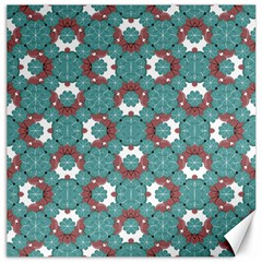 Colorful Geometric Graphic Floral Pattern Canvas 12  X 12