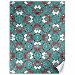 Colorful Geometric Graphic Floral Pattern Canvas 12  X 16