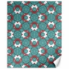 Colorful Geometric Graphic Floral Pattern Canvas 16  X 20