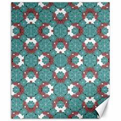 Colorful Geometric Graphic Floral Pattern Canvas 20  X 24