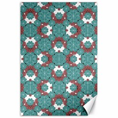 Colorful Geometric Graphic Floral Pattern Canvas 20  X 30