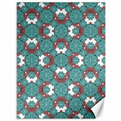 Colorful Geometric Graphic Floral Pattern Canvas 36  X 48