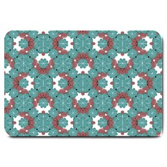 Colorful Geometric Graphic Floral Pattern Large Doormat