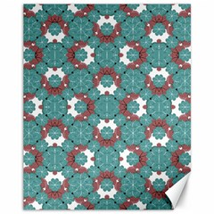 Colorful Geometric Graphic Floral Pattern Canvas 11  X 14
