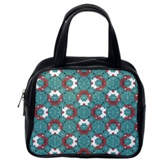 Colorful Geometric Graphic Floral Pattern Classic Handbags (one Side)