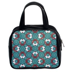 Colorful Geometric Graphic Floral Pattern Classic Handbags (2 Sides)
