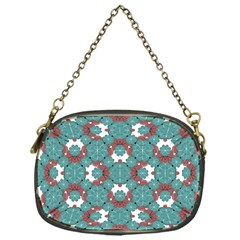 Colorful Geometric Graphic Floral Pattern Chain Purses (one Side)