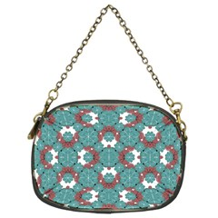 Colorful Geometric Graphic Floral Pattern Chain Purses (two Sides)