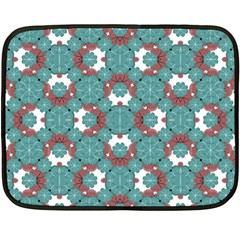 Colorful Geometric Graphic Floral Pattern Double Sided Fleece Blanket (mini)