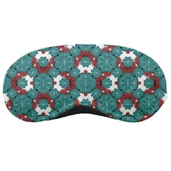 Colorful Geometric Graphic Floral Pattern Sleeping Masks