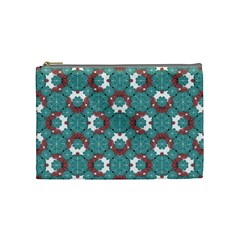 Colorful Geometric Graphic Floral Pattern Cosmetic Bag (medium)