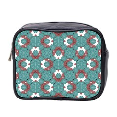 Colorful Geometric Graphic Floral Pattern Mini Toiletries Bag 2 Side