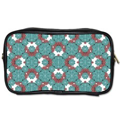 Colorful Geometric Graphic Floral Pattern Toiletries Bags 2 Side