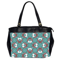 Colorful Geometric Graphic Floral Pattern Office Handbags (2 Sides)