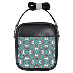 Colorful Geometric Graphic Floral Pattern Girls Sling Bags
