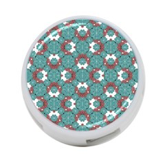 Colorful Geometric Graphic Floral Pattern 4 Port Usb Hub (one Side)