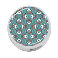 Colorful Geometric Graphic Floral Pattern 4 Port Usb Hub (two Sides)