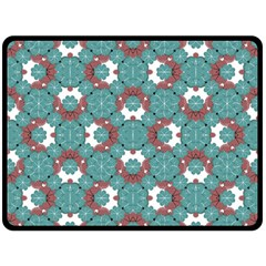 Colorful Geometric Graphic Floral Pattern Fleece Blanket (large)
