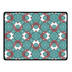 Colorful Geometric Graphic Floral Pattern Fleece Blanket (small)