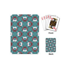 Colorful Geometric Graphic Floral Pattern Playing Cards (mini)