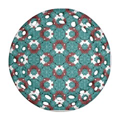 Colorful Geometric Graphic Floral Pattern Ornament (round Filigree)