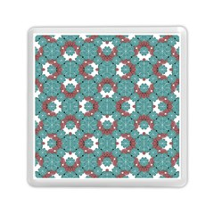 Colorful Geometric Graphic Floral Pattern Memory Card Reader (square)