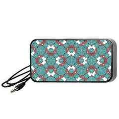 Colorful Geometric Graphic Floral Pattern Portable Speaker (black)