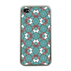 Colorful Geometric Graphic Floral Pattern Apple Iphone 4 Case (clear)