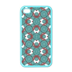 Colorful Geometric Graphic Floral Pattern Apple Iphone 4 Case (color)